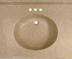 Flush oval bowl for bathroom vanity