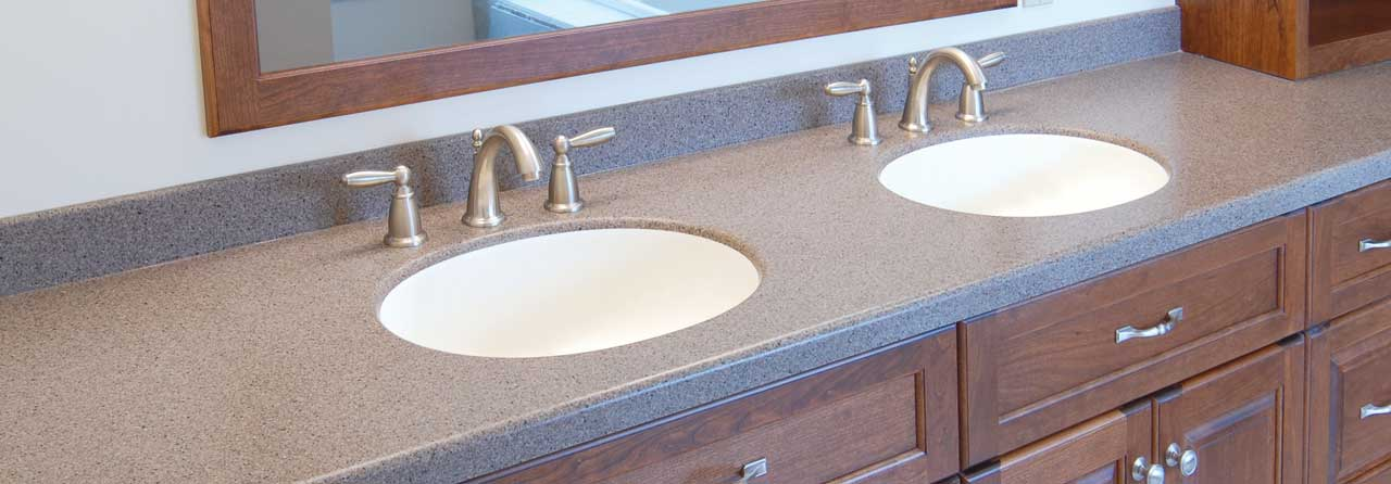 Double Sink Marble Vanity Top