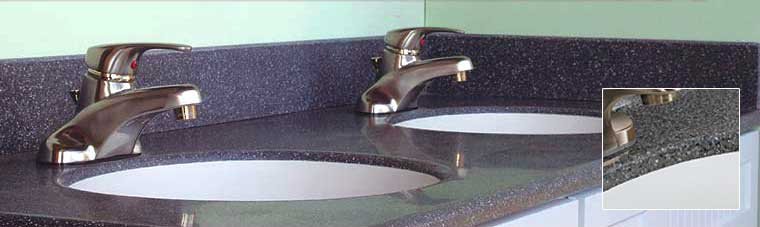 Meganite vanity top and bowl